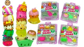 Num Noms Series 3 Hard Candies, Marshmallows, Fruit Foods, Donuts + Surprise Shopkins Blind Bags