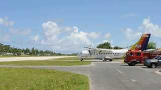 preview picture of video 'Funafuti International Airport - taxiing to runway'
