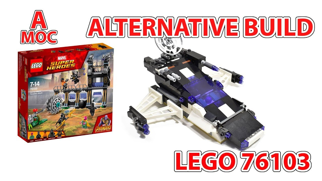 LEGO 76103 SPACE SHIP Alternative model review and tutorial [A MOC]