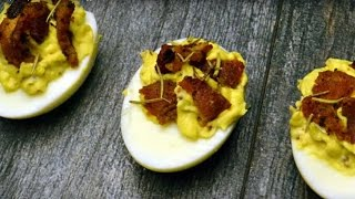 Keto Recipes - Spiced Bacon Deviled Eggs