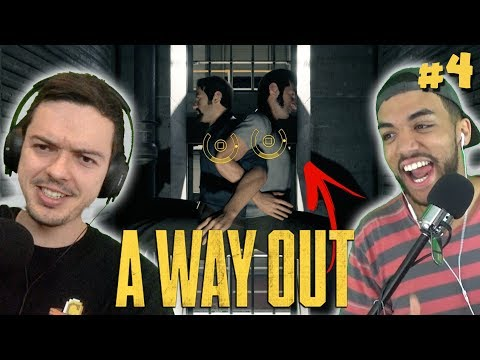 FOLLOW THE ARROW, STUPID! | A Way Out Co-op w/ Rhymestyle & Seereax #4