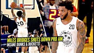 Miles Bridges SHUTS DOWN Miami Pro League w/ INSANE Dunks & Crazy Buckets!