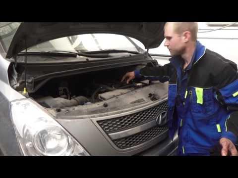 Фото к видео: Замена масла в акпп и двигателе Hyundai Grand Starex