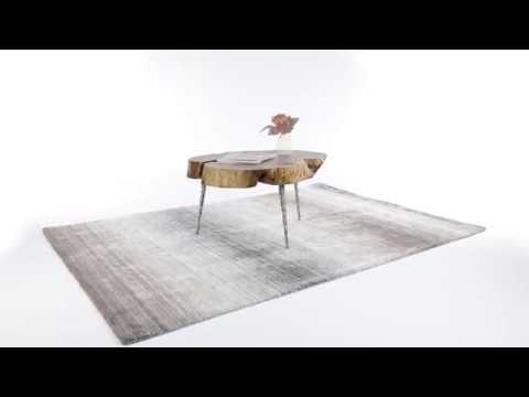 Design Teppich 160x230 cm grau
