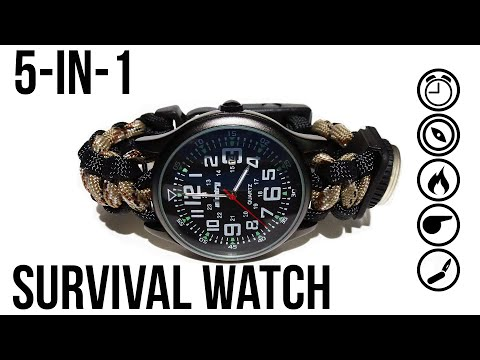 Be Ready For Anything In The Wilderness With This DIY Survival Watch