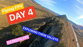 Day 4 Flying FPV - Cliff's and mountain trails - DJI DIGITAL FPV