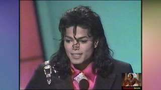 '89  Michael Jackson Receives Award from Elizabeth Taylor and Eddie Murphy (HD1080i)