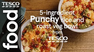 5-ingredient punchy rice and roast veg bowl