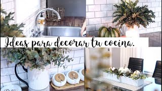 Ideas Para Decorar Tu Cocina Estilo Farm House/Otoño.