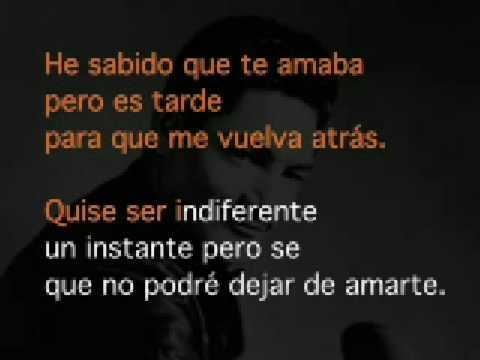 Javier Solis - Karaoke He Sabido que te Amaba
