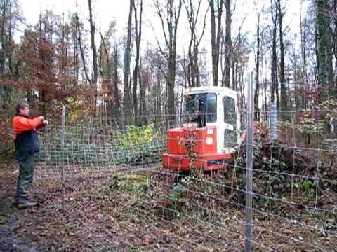 Bau eines Wildschutz-Zaunes