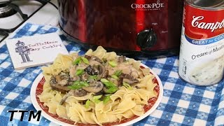 How To Cook Pork Chops In The Crock Pot~Pork Chops And Mushrooms~Easy Slow Cooker Recipe