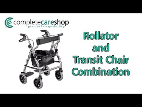2 in 1 Rollator and Transit Chair Demo
