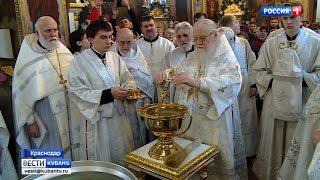Чин освящения воды провел владыка Исидор