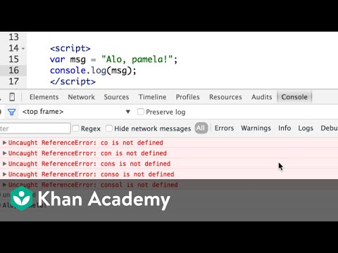 Debugging webpages with the browser console (video) | Khan Academy