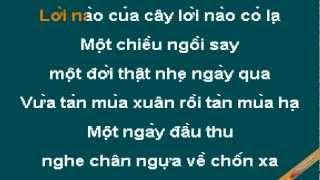 Mot Coi Di Ve Karaoke - Khánh Ly - CaoCuongPro