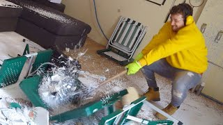 I Made a Rage Room & Smashed Everything Inside! (Anger Room Stress Relief Challenge)