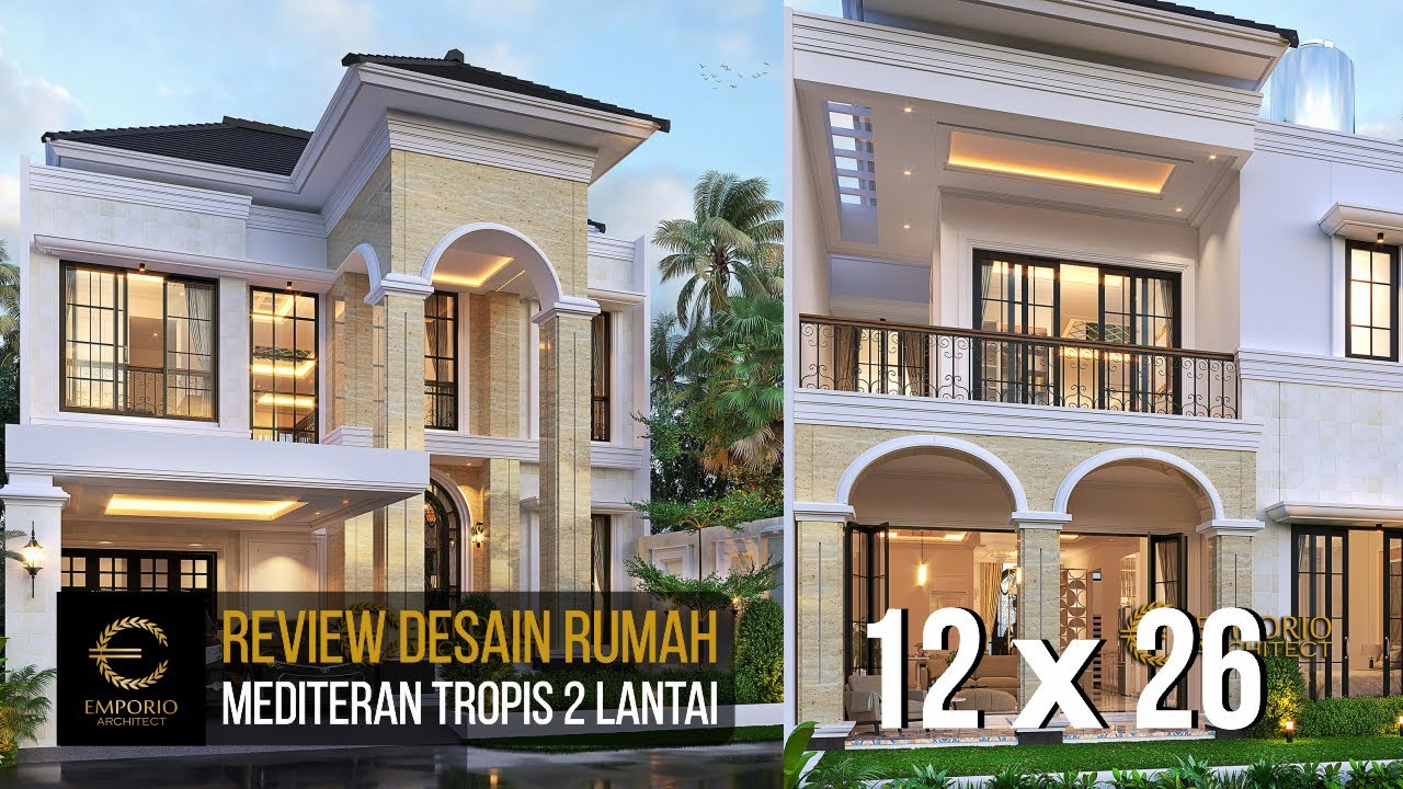 Video 3D Mr. Royke Poluakan Mediterranean House 2 Floors Design - BSD, Tangerang Selatan, Banten
