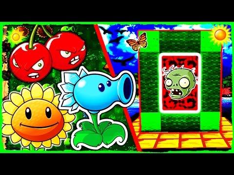 Minecraft Plants vs Zombies 2 - How to Make a Portal to PVZ 2