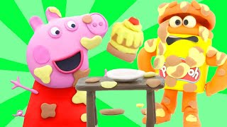 Peppa Pig Official Channel 🎂 Peppa Pig's Cake Prank | Play-Doh Show Stop Motion@Play-Doh
