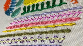 【基本刺繍ステッチ1】Hand Embroidery Stitches For Beginners