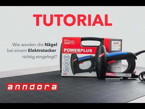 Tutorial: Elektrotacker - Nägel einlegen