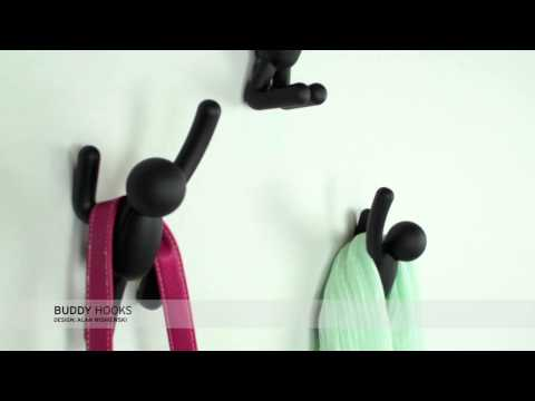 YouTube video about the Buddy wall hooks set of 3 by Umbra
