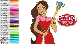 Elena Of Avalor Coloring Book Page Disney Princess