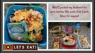 What I packed my Husband for Lunch | Cold Lunch Ideas for anyone