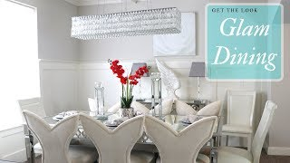 Get The Look: Glam Dining Room (Contemporary Luxe Furniture) #FromOrdinaryToFab