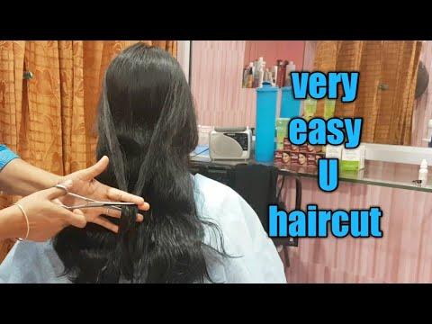 Very easy U hair cut/U haircut/how to U shape haircut