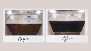 DIY Bathroom Vanity Renovation - Contact Paper