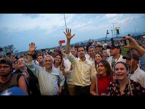 Ο Χουάν Γκουαϊδό στη συναυλία για την ανθρωπιστική βοήθεια…