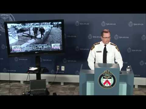 Toronto CrimeStoppers 42 Division Robbery Appeals | @TorontoPolice D/Sgt.Gerry Heaney