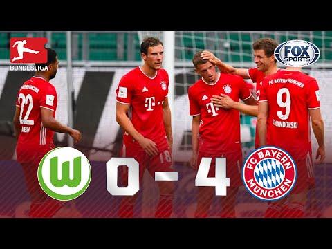 BAILE DOS CAMPEÕES! Veja os melhores momentos de Wolfsburg 0x4 Bayern de Munique pela Bundesliga