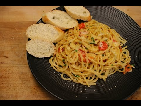 Garlic spaghetti recipe – spaghetti Aglio e Olio – italian cooking – easy pasta recipes – homemade