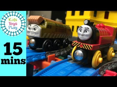 Thomas and Friends Wooden Railway Train Races | Thomas Train Diesels VS Narrow Gauge Super Station