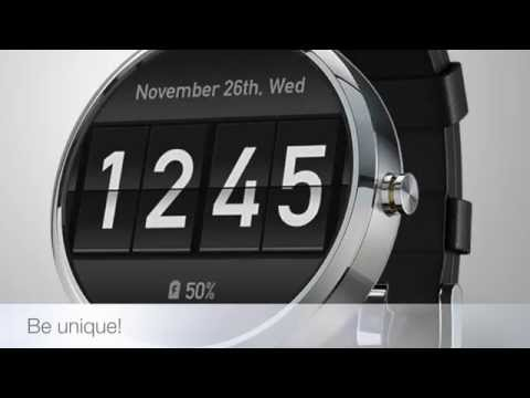 Flip Clock Watch Face wideo