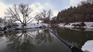 Ловля рыбы на дорожку весной в мутной воде