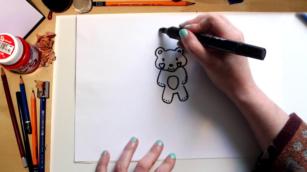 Como dibujar un Osito de Peluche para del día de San Valentín
