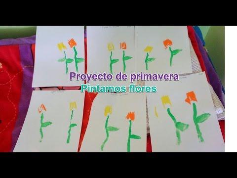 Proyecto de primavera. Pintamos flores con tenedores. Escuela Infantil El jardin de los Sueños.