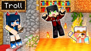 10 FUNNY TROLL Pranks in Minecraft!
