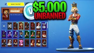 *RARE* $5000 UNBANNED Fortnite Locker Showcase! 100+ Skins + Season 1!