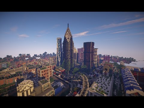 Last Of Us Inspired Post Apocalyptic City Minecraft Project - The last of us minecraft map