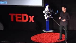 An exoskeleton to remote-control a robot | André Schiele | TEDxRheinMain