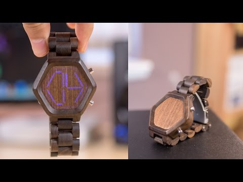 TokyoFlash Night Vision Wood Watch! (Review)