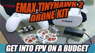 The Ultimate Drone Kit for Beginners!! FPV Goggles, Radio, and Emax Tinyhawk 2 FPV Bundle Review