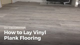 How to Lay Vinyl Flooring | DIY Projects