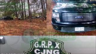 """Decomisan convoy del """"Grupo X"""" del CJNG en Zinapécuaro, Michoacán"""
