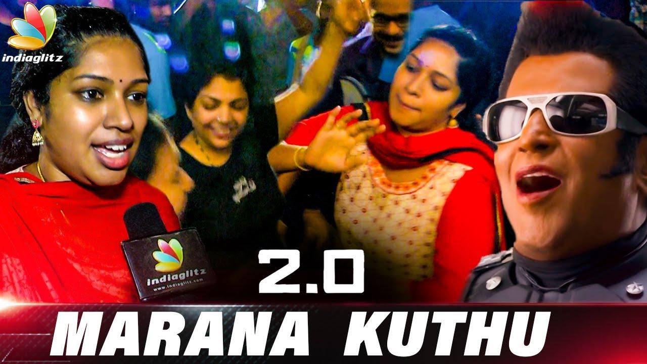 Thalaivars Female Fans Marana Dance | Rohini Theatre 2.0 Public Review | Enthiran 2 FDFS Reaction